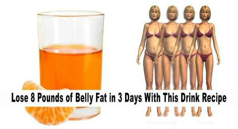 Lose 8 pounds of belly fat in 3 days with this drink recipe the importance of diet in losing belly fat forumfinder Images