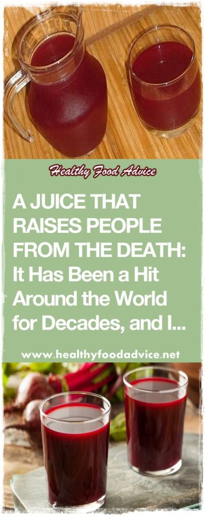 A JUICE THAT RAISES PEOPLE FROM THE DEATH: It Has Been a Hit Around the World for Decades, and It Only Takes Two Minutes to Make It!